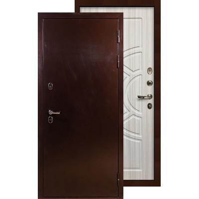 Входная дверь Лекс Термо Сибирь 3К ФЛ-44 (Сандал белый)