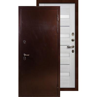 Входная дверь Лекс Термо Сибирь 3К Сицилио (Беленый дуб)