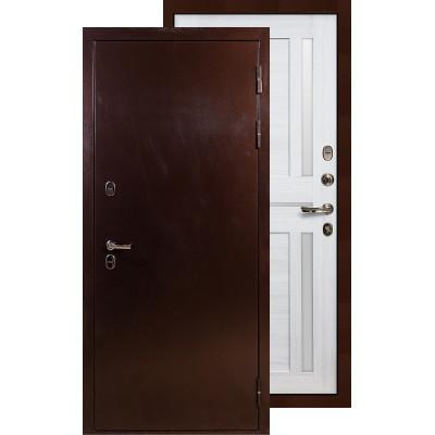 Входная дверь Лекс Термо Сибирь 3К Баджио (Беленый дуб)
