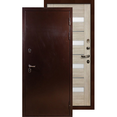 Входная дверь Лекс Термо Сибирь 3К Сицилио (Кремовый ясень)
