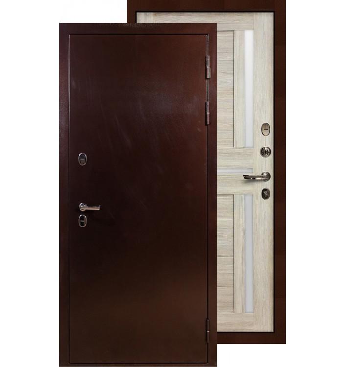 Входная дверь Лекс Термо Сибирь 3К Баджио (Кремовый ясень)
