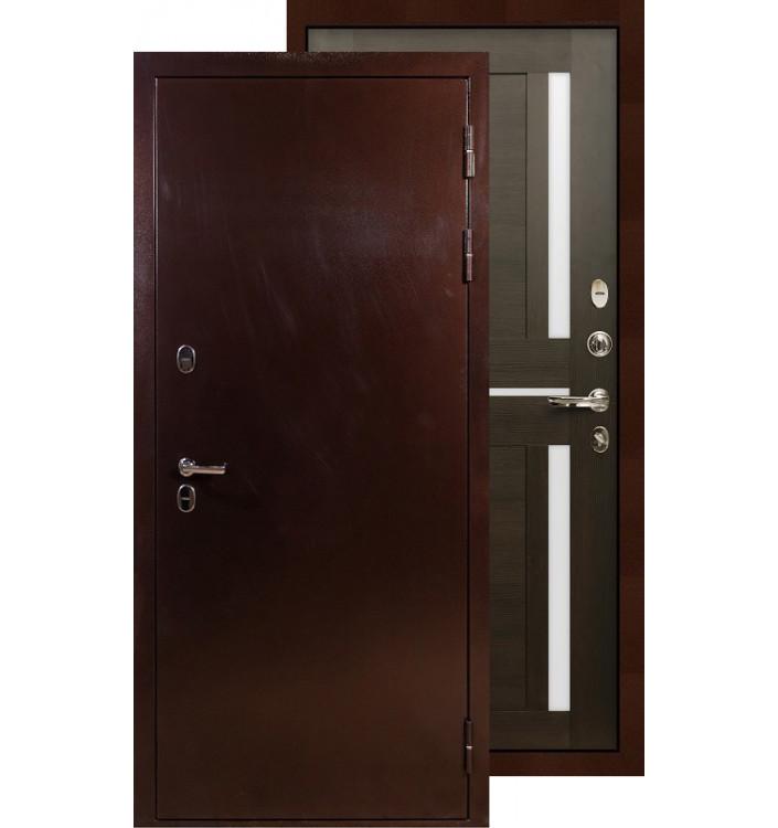 Входная дверь Лекс Термо Сибирь 3К Баджио (Венге)