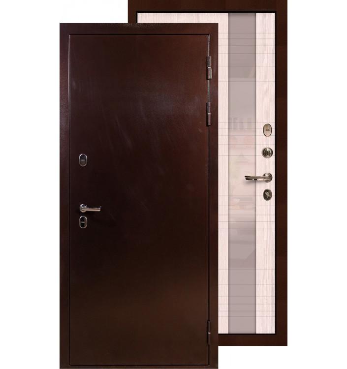 Входная дверь Лекс Термо Сибирь 3К Новита (Беленый дуб)