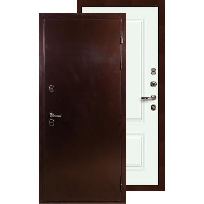 Входная дверь Лекс Термо Сибирь 3К Вероника (Белая эмаль)