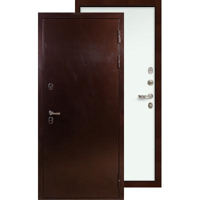 Входная дверь Лекс Термо Сибирь 3К ФЛ-59 (Белый ясень)