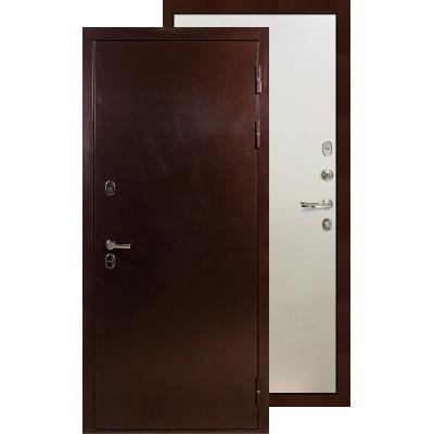 Входная дверь Лекс Термо Сибирь 3К ФЛ-62 (Белый ясень)
