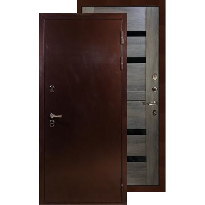 Входная дверь Лекс Термо Сибирь 3К Неро (Графит шале)
