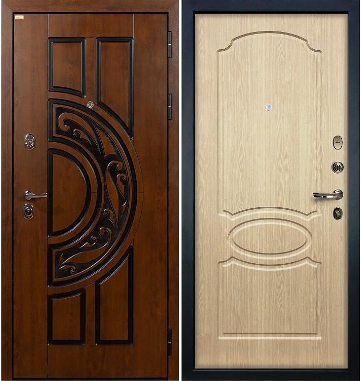 Входная дверь Спартак CISA / Беленый дуб (панель №14)