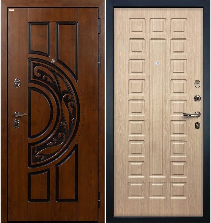 Входная дверь Спартак CISA / Беленый дуб (панель №20)