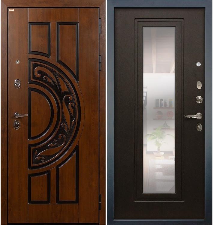 Входная дверь Спартак CISA / с зеркалом Венге (панель №22)