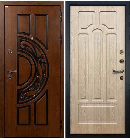 Входная дверь Спартак CISA / Беленый дуб (панель №25)