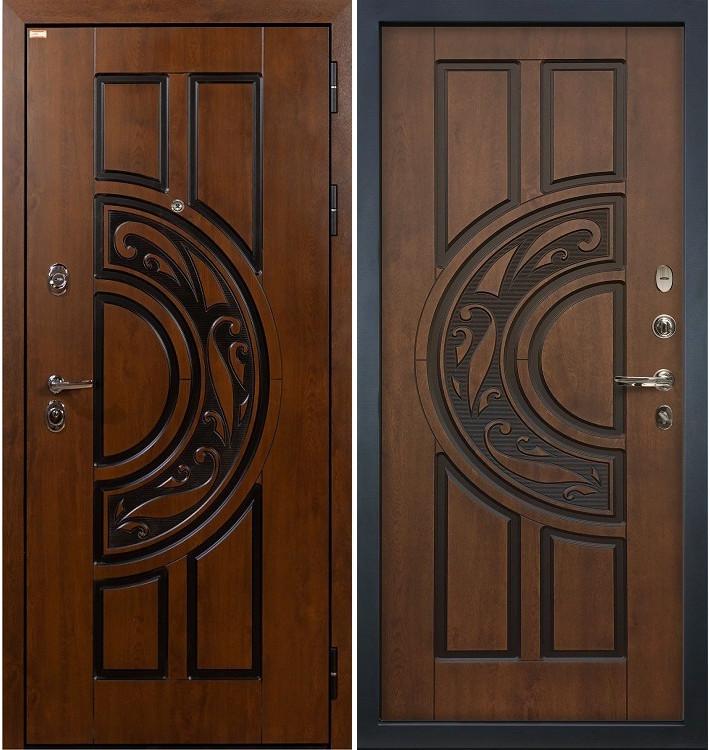 Входная дверь Спартак CISA / Голден патина (панель №27)