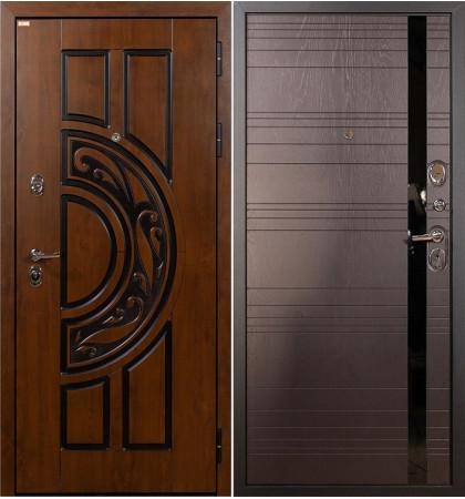 Входная дверь Спартак CISA / Ясень шоколадный (панель №31)