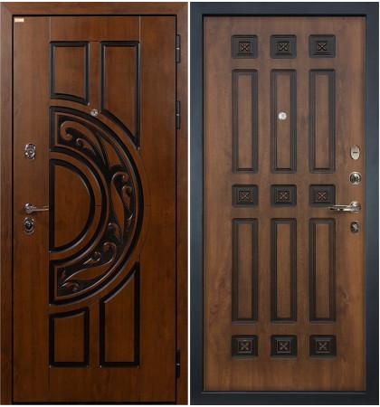 Входная дверь Спартак CISA / Голден патина (панель №33)