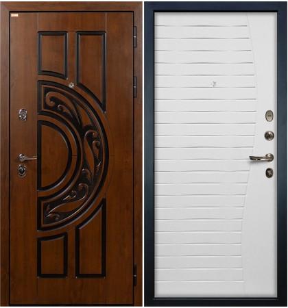 Входная дверь Спартак CISA / Волна Белый ясень (панель №36)