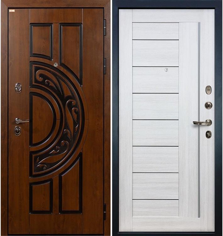 Входная дверь Спартак CISA / Верджиния Беленый дуб (панель №38)