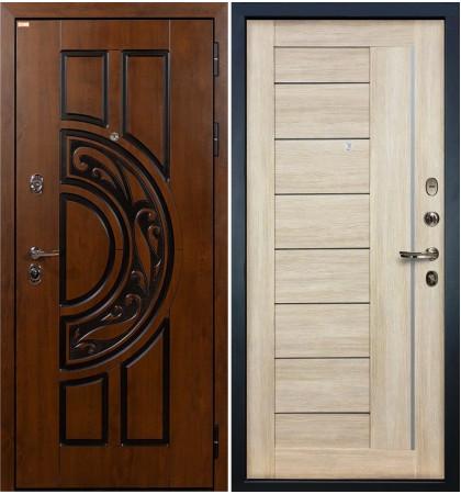 Входная дверь Спартак CISA / Верджиния Кремовый ясень (панель №40)