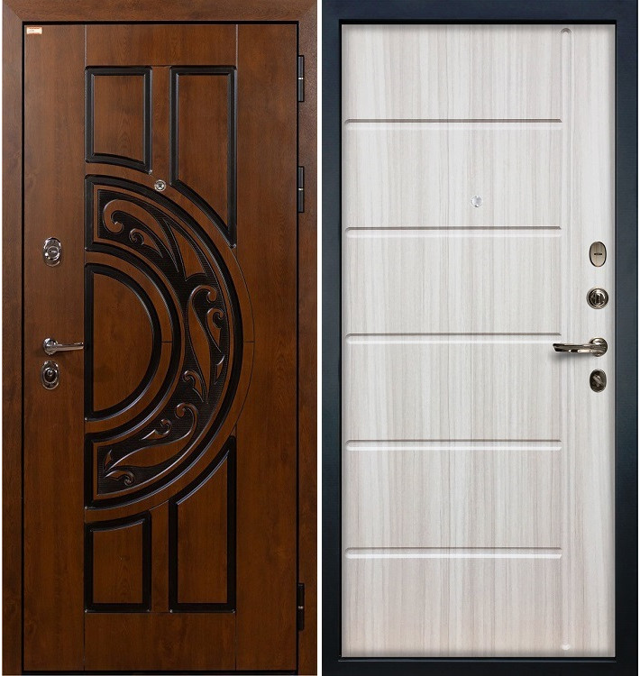 Входная дверь Спартак CISA / Сандал белый (панель №42)