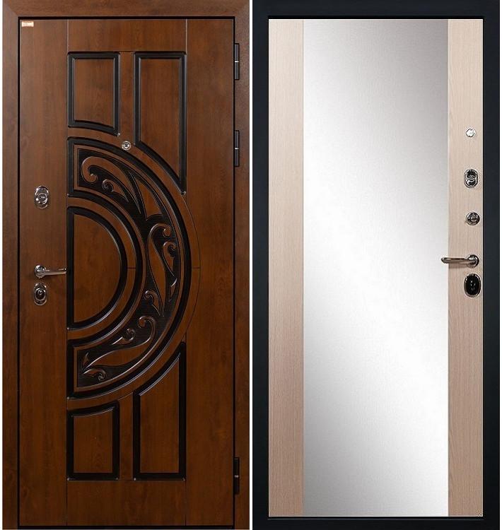 Входная дверь Спартак CISA / Стиль Беленый дуб (панель №45)