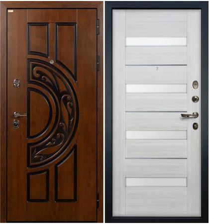 Входная дверь Спартак CISA / Сицилио Беленый дуб (панель №46)