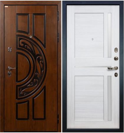 Входная дверь Спартак CISA / Баджио Беленый дуб (панель №47)