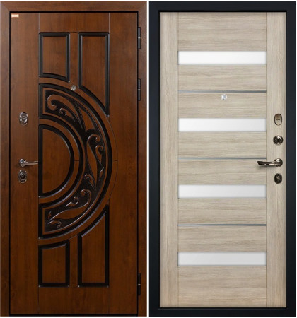Входная дверь Спартак CISA / Сицилио Ясень кремовый (панель №48)