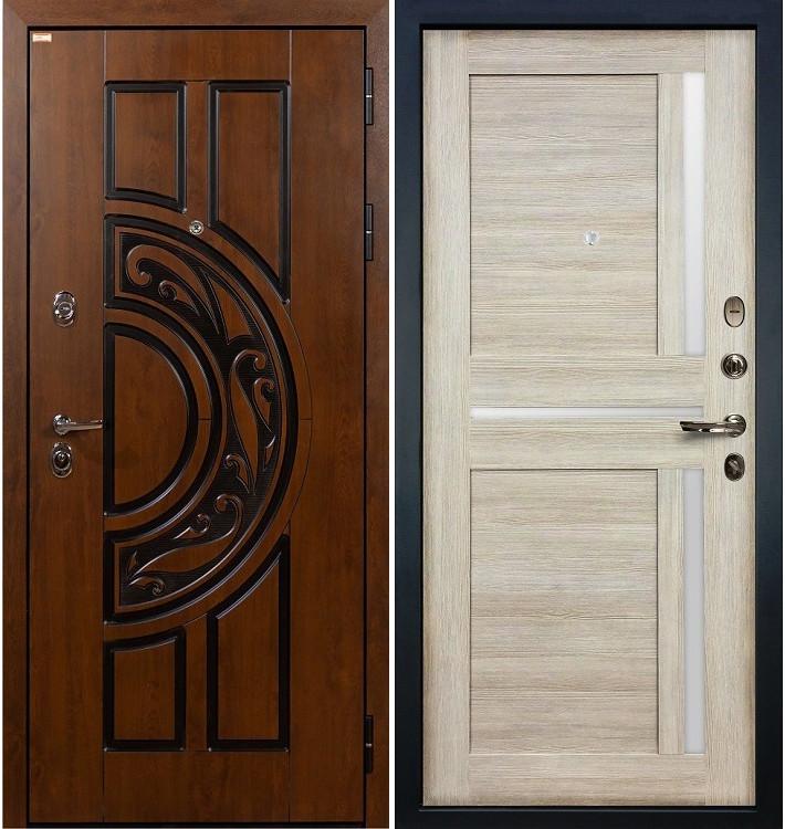 Входная дверь Спартак CISA / Баджио Кремовый ясень (панель №49)