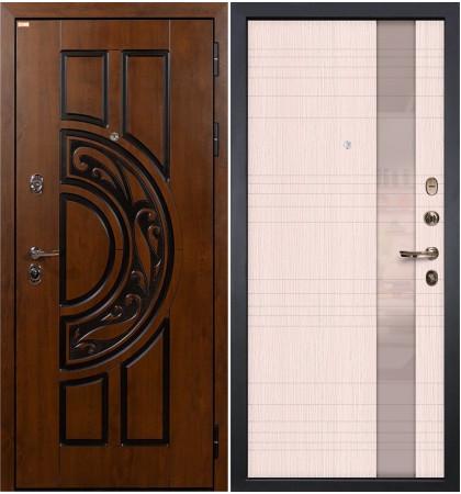 Входная дверь Спартак CISA / Новита Беленый дуб (панель №52)