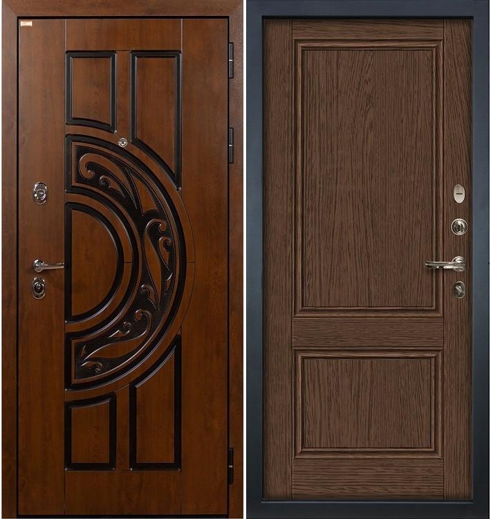 Входная дверь Спартак CISA / Энигма Орех (панель №57)
