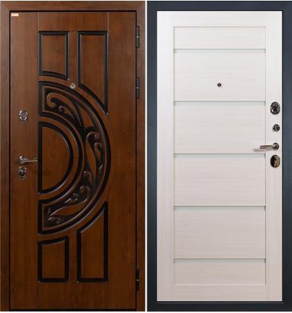 Входная дверь Спартак CISA / Клеопатра Беленый дуб (панель №58)