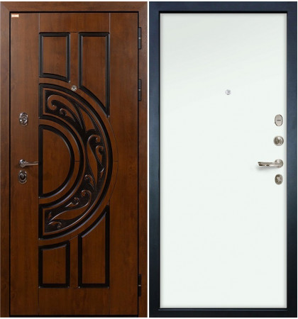 Входная дверь Спартак CISA / Белый винорит (панель №59)