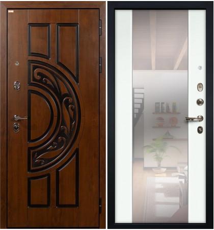 Входная дверь Спартак CISA / Стиль Белый экошпон (панель №61)