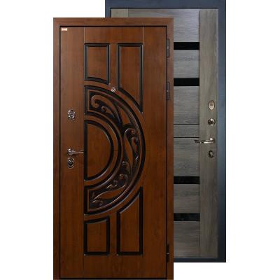 Входная дверь Лекс Спартак Неро (Графит шале)