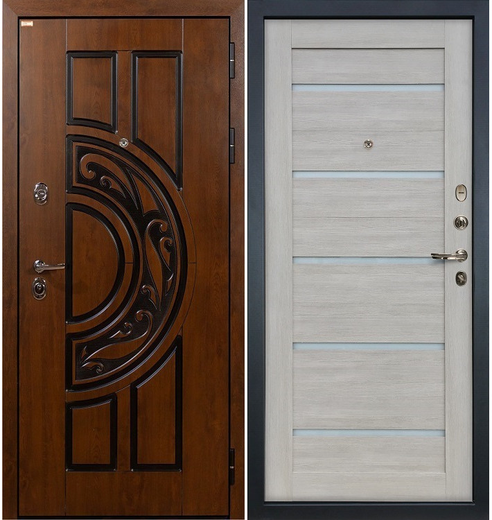 Входная дверь Спартак CISA / Клеопатра Ясень кремовый (панель №66)