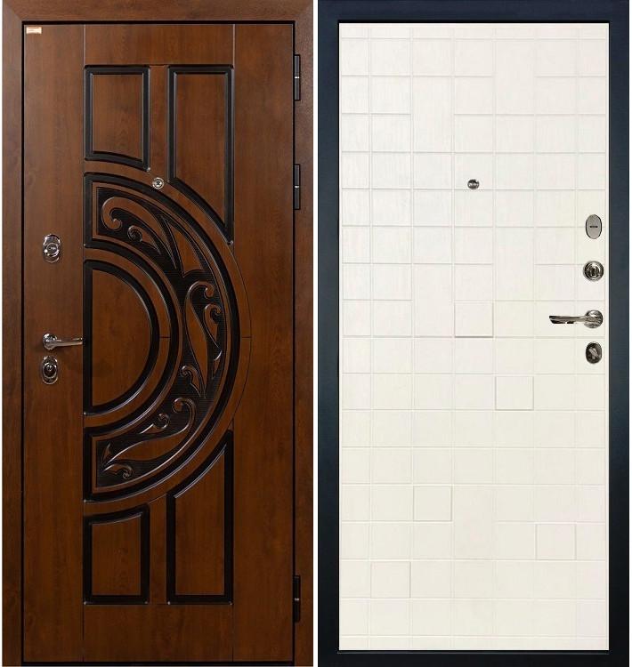 Входная дверь Спартак CISA / Белый ясень (панель №56)