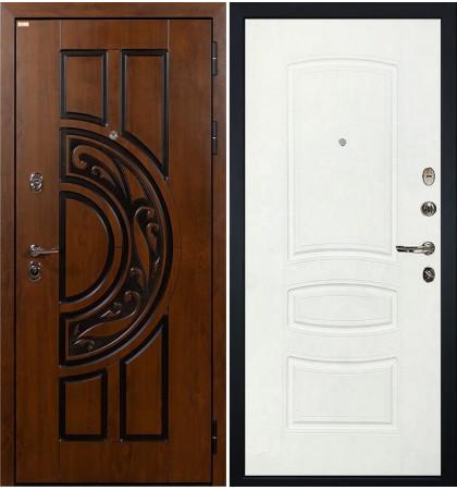 Входная дверь Спартак CISA / Белая шагрень (панель №68)