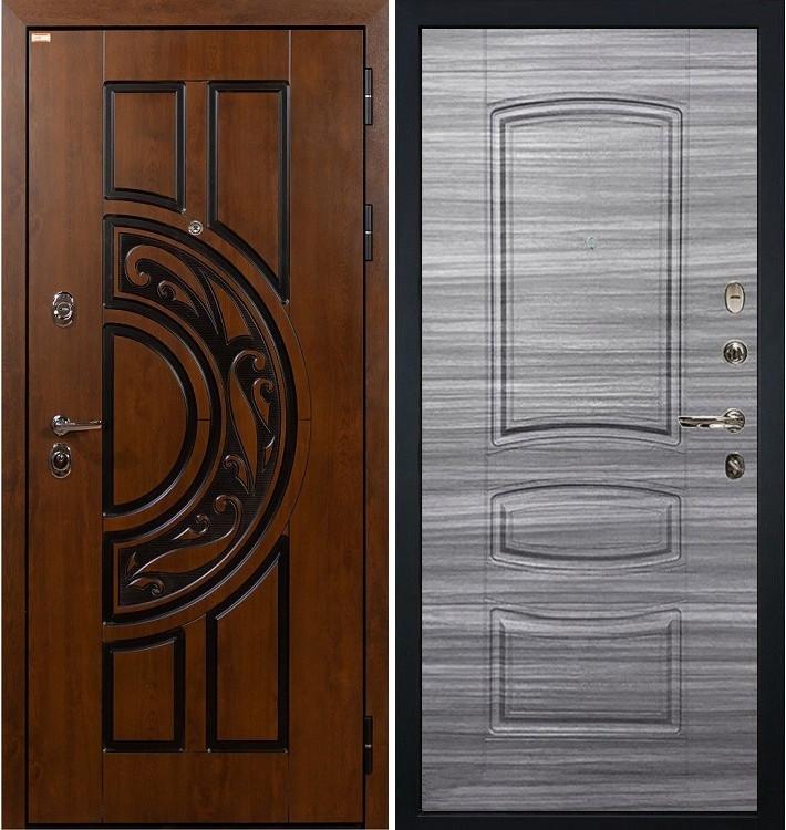 Входная дверь Спартак CISA / Сандал серый (панель №69)