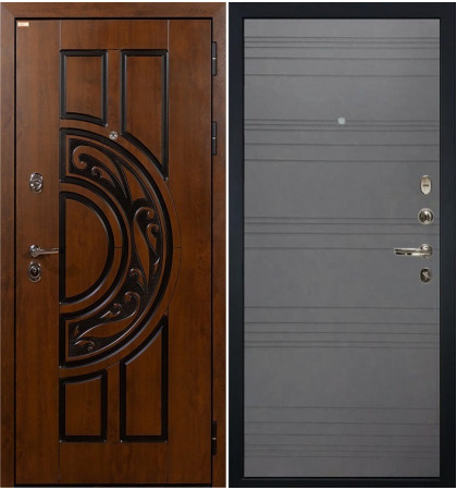 Входная дверь Спартак CISA / Графит софт (панель №70)