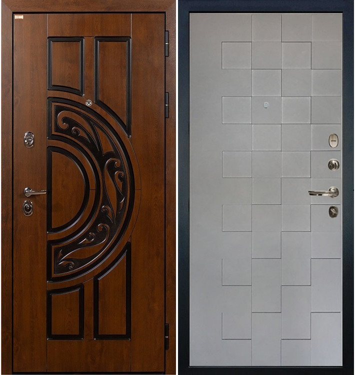 Входная дверь Спартак CISA / Квадро Графит софт (панель №72)