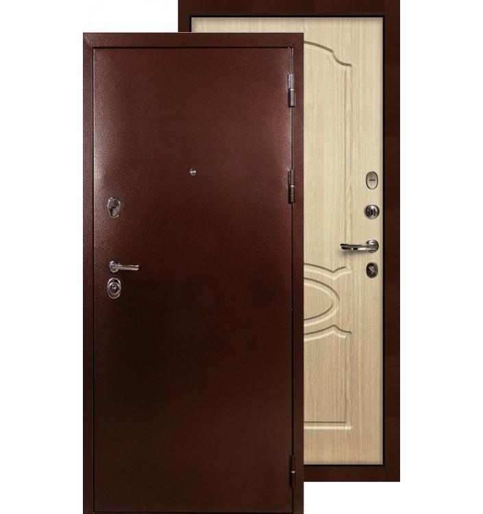Входная дверь Лекс Титан медь ФЛ-14 (Беленый дуб)