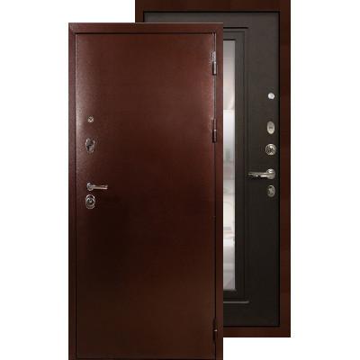 Входная дверь Лекс Титан медь с зеркалом (Венге)