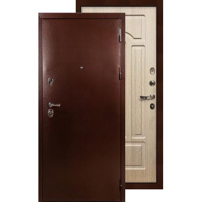 Входная дверь Лекс Титан медь ФЛ-25 (Беленый дуб)