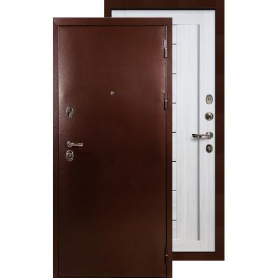 Входная дверь Лекс Титан медь Верджиния (Беленый дуб)