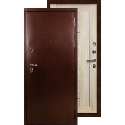 Входная дверь Лекс Титан медь Верджиния (Кремовый ясень)