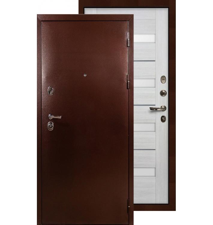Входная дверь Лекс Титан медь Сицилио (Беленый дуб)