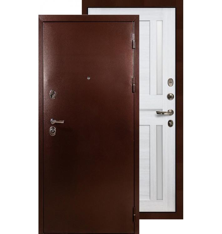 Входная дверь Лекс Титан медь Баджио (Беленый дуб)