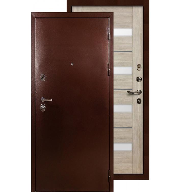 Входная дверь Лекс Титан медь Сицилио (Кремовый ясень)