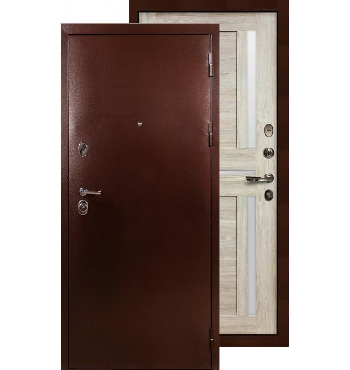 Входная дверь Лекс Титан медь Баджио (Кремовый ясень)