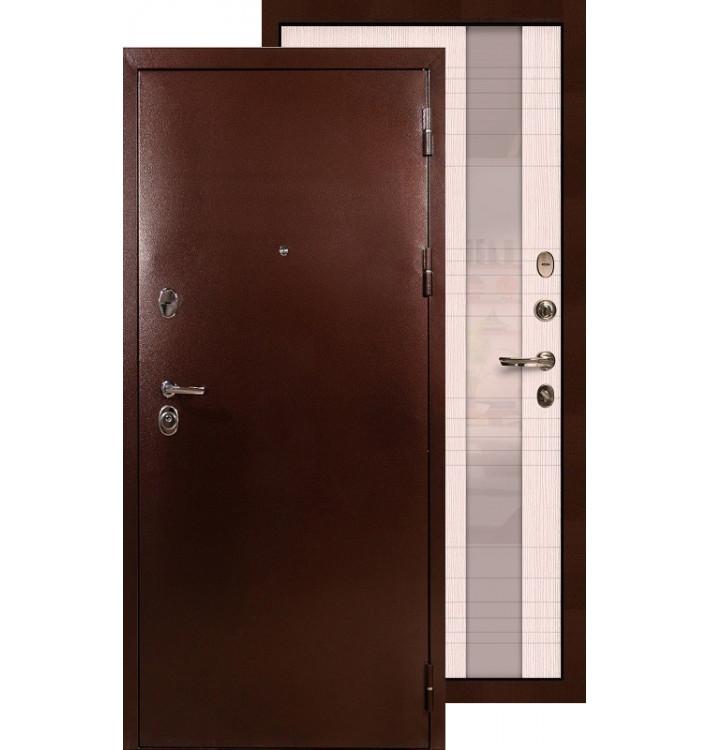 Входная дверь Лекс Титан медь Новита (Беленый дуб)