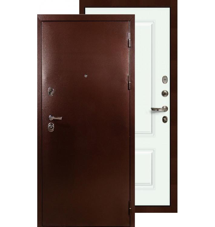 Входная дверь Лекс Титан медь Вероника (Белая эмаль)